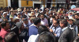 Ediles auxiliares protestan en Congreso y exigen acceder a un salario y participaciones
