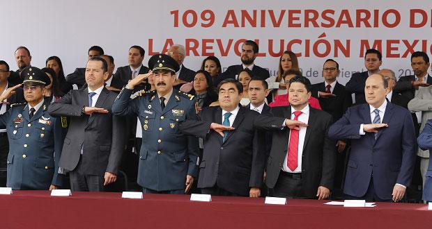 Encabeza Barbosa ceremonia por el 109 aniversario de la Revolución