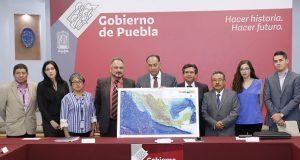 Entrega Inegi a Puebla cartografía para localizar puntos prioritarios
