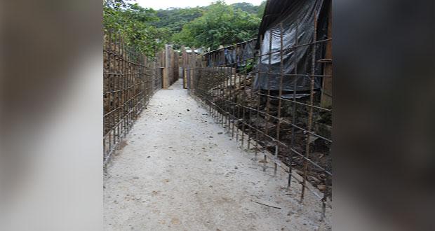 Entubamiento de barranca en Camocuautla beneficia a 800 habitantes