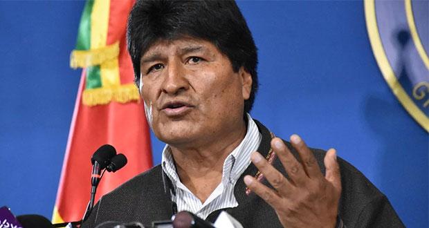 AMLO reconoce a Evo Morales por renuncia; Ebrard le ofrece asilo