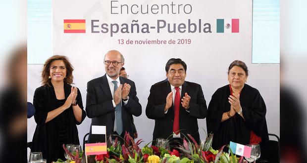 Hacer de España el segundo país con inversión en Puebla, ofrece Barbosa
