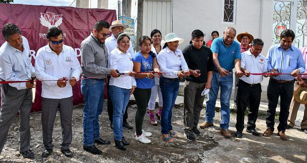 Lupita Daniel entrega obras en Sanctorum y la colonia Nuevo León
