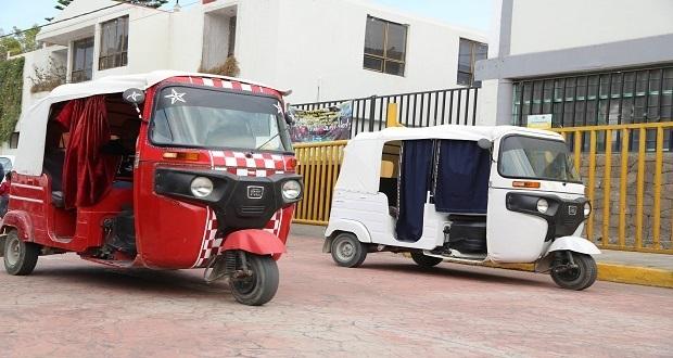 Mototaxis, un mal necesario en municipios de Puebla, admite Collantes