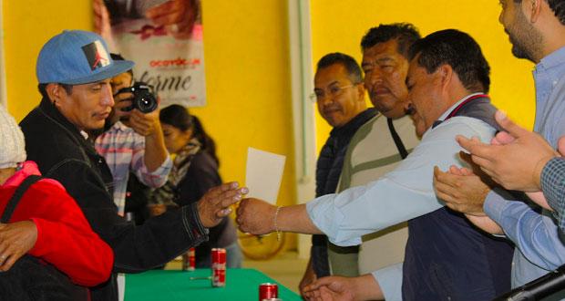 En Ocoyucan, Conavi acuerda apoyar damnificados para reconstrucción