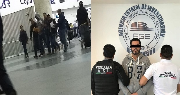 Patjane, edil de Tehuacán, detenido en aeropuerto de la CDMX