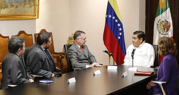 Puebla da bienvenida a los pueblos de AL: Barbosa a Venezuela
