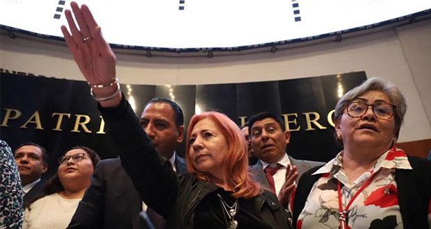 Rosario Piedra protesta como titular de CNDH; Senado no repone elección