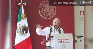 En Canoa, AMLO anuncia apoyo para Puebla de 230 mdp para fertilizante