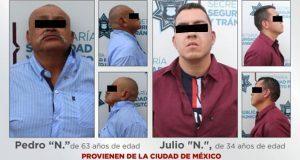Detienen en Xilotzingo a dos probables asaltantes de cuentahabientes