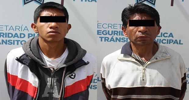 Detienen a 2 por robo y recuperan autopartes en El Carmen