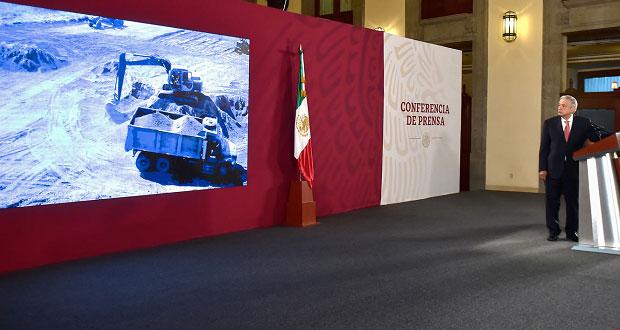 AMLO presenta avances de obras en Santa Lucía y Dos Bocas
