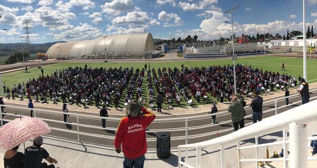 Alumnos llevarán banda monumental al aniversario 45 de Antorcha
