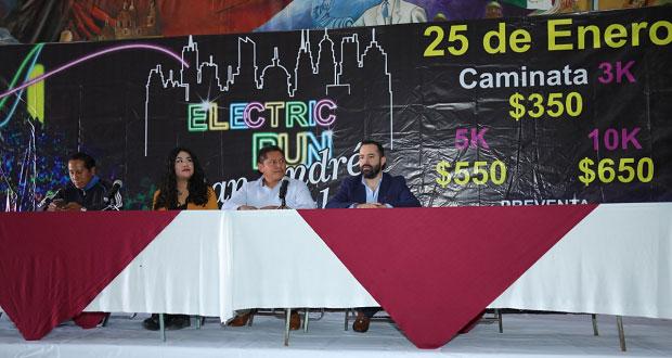 Inicia el 2020 en la carrera Electric Run, de San Andrés Cholula