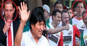 Escolta de EPN y otros de Sedena custodian a Evo Morales