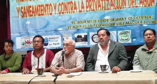 Frente en Defensa del Agua propondrá a Congreso regresar a tarifas de 2010