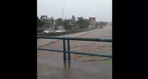 Frente frío número 18 causa fuertes lluvias en Mazatlán; se inunda