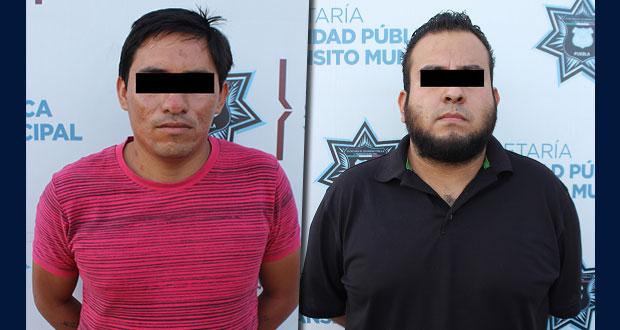 SSC detiene a 2 por probable robo de auto en Puebla capital