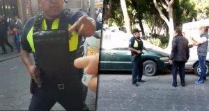 Captan a policía que saca pistola contra ciudadano en Puebla; SSC investiga