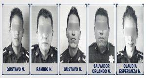 Vinculan a proceso a 5 policías municipales de Puebla por robo