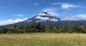 Popocatépetl mantiene actividad moderada durante el lunes