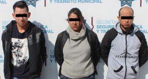 SSC de Puebla detiene a 3 presuntos asaltantes de ruta 69