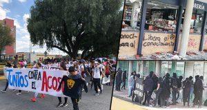 Alumnas protestan contra acoso en UNAM; encapuchados hacen destrozos