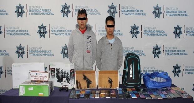 Detienen a 2 por robar 60 celulares de Coppel San José Vista Hermosa