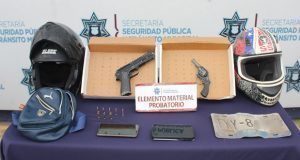 Por robar celular en Castillotla, SSC aprehende a dos hombres