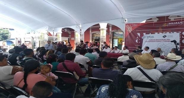 Cooperativas combaten desempleo en Puebla, asegura Cuéllar