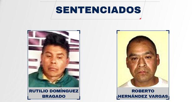 Dan 20 años de prisión a homicidas de una mujer en Huauchinango