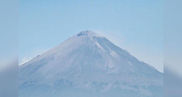 El martes fue el día más activo del volcán Popocatépetl