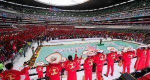 En celebración en el Azteca, Antorcha anuncia creación de partido