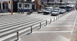 Ayuntamiento no quitará bolardos; están pensados en el peatón: Rivera