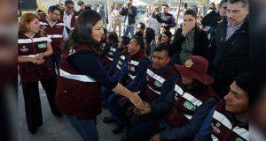 Gobierno de la ciudad de Puebla tapa 10 mil baches en dos meses