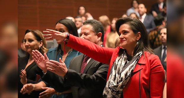 Margarita Ríos-Farjat rinde protesta como nueva ministra de la SCJN