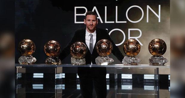 Messi recibe Sexto Balón de Oro en Paris; suma dos premios este 2019