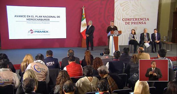 Pemex prevé que 2019 cierre con alza de 9.4% en producción petrolera