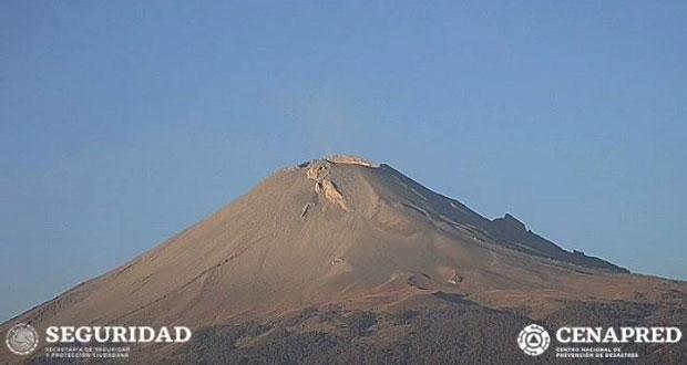 Popocatépetl registra actividad volcánica mínima, reporta PC