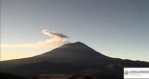 Por actividad usual, volcán Popocatépetl sigue en Amarillo Fase Dos
