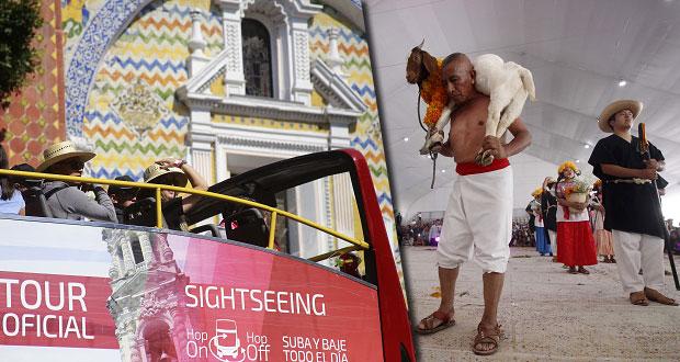 En 4 meses, sube 5.4% afluencia turística y, 5.7% derrama económica en Puebla