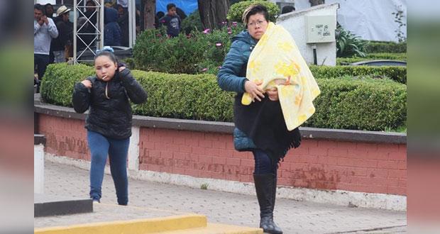 En Puebla habrá temperaturas de 5 a 0 °C en las próximas 48 horas
