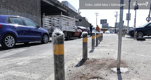 Oportuna, instalación de bolardos; faltan recursos para movilidad: activista
