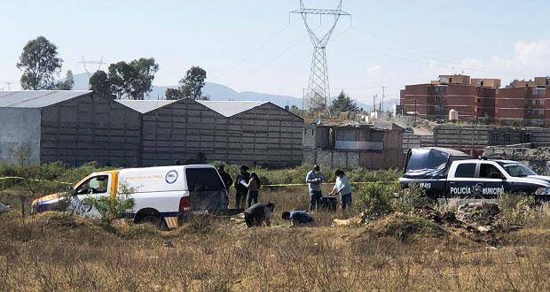 Hallan cadáver y restos humanos en dos colonias de Puebla capital