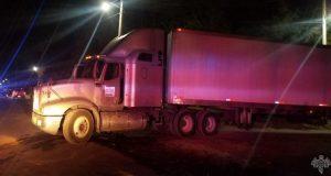 Policía Estatal frustra robo de tráiler en San Salvador El Verde