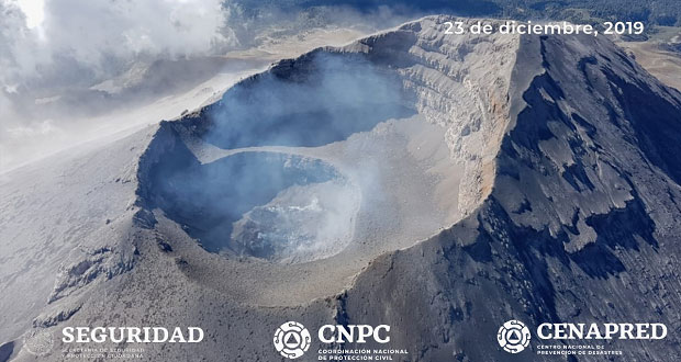Sobrevuelo al Popocatépetl confirma destrucción del domo 85: Cenapred