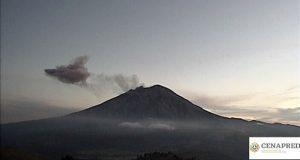 Este viernes, día más activo de la semana del Popocatépetl