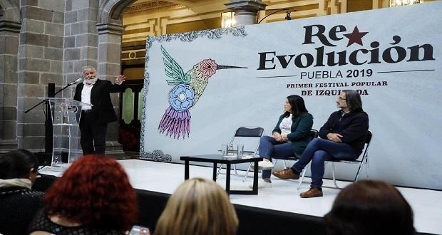 En Puebla capital, Encinas habla de Derechos Humanos y la izquierda