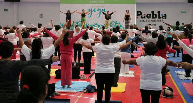 Comuna hace festival de Yoga, el último evento deportivo del año