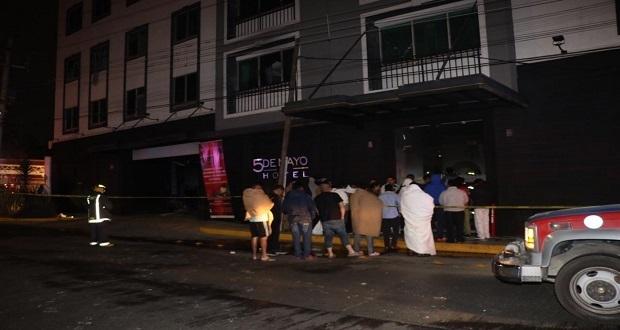 Evacúan a 130 huéspedes de Hotel 5 de Mayo por incendio
